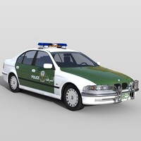 BMW 5 police Car Dubai